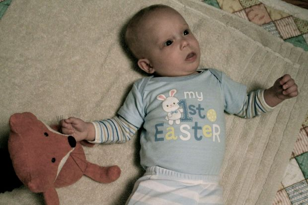 Finn's first easter