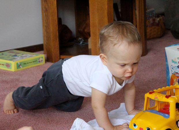 9 month Finn playing