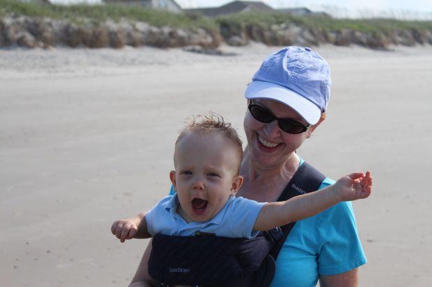 Finn 9 month Beach