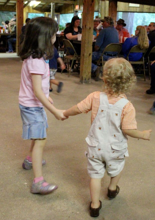 You and Maya became great buddies. (Not pictured: Cousin Chase running around as you and Maya danced.)