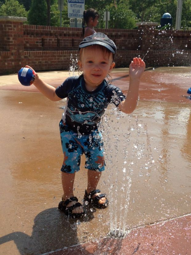 You and your cousins also played at the splash pad together. You were soaked, but loved it!