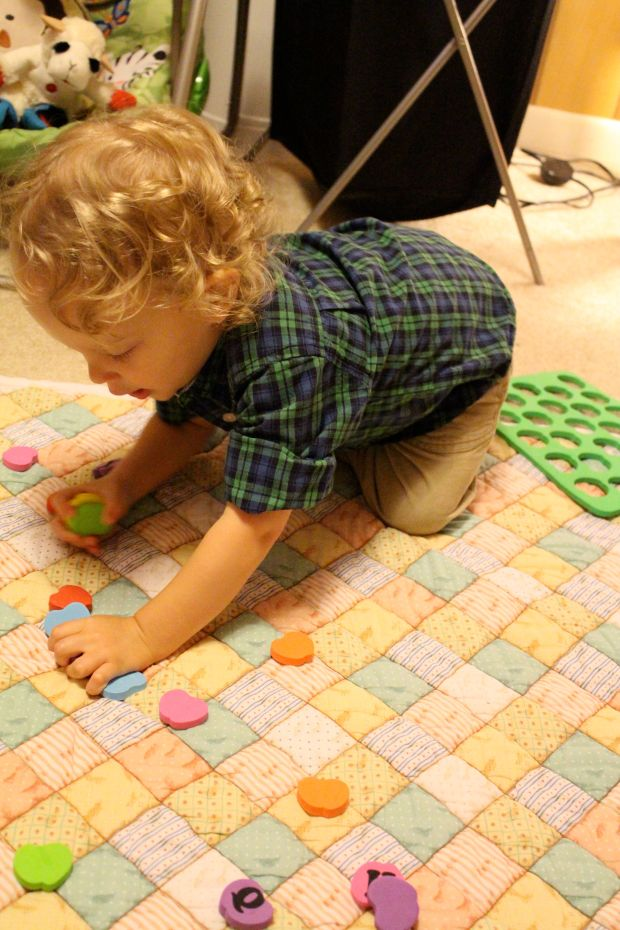 You love to play with things that have small pieces b/c they make a fun little mess to roll around in.