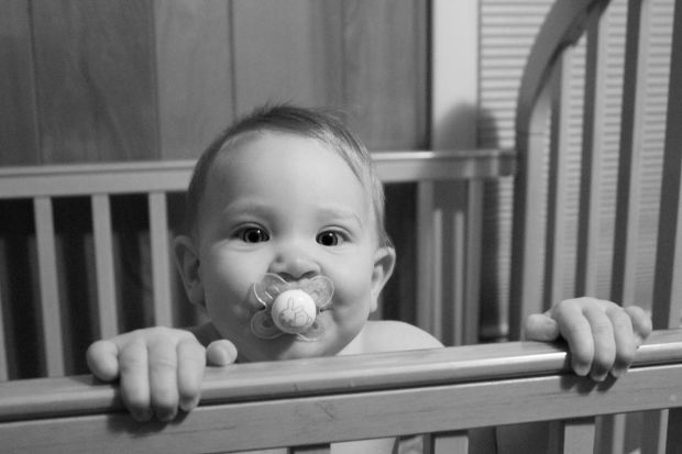 You haven't cared a thing for a pacifier until you started this round of teething. Now it's your constant companion.